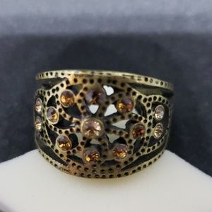 Lia Sophia Ring with Bronze and Citrine Colors
